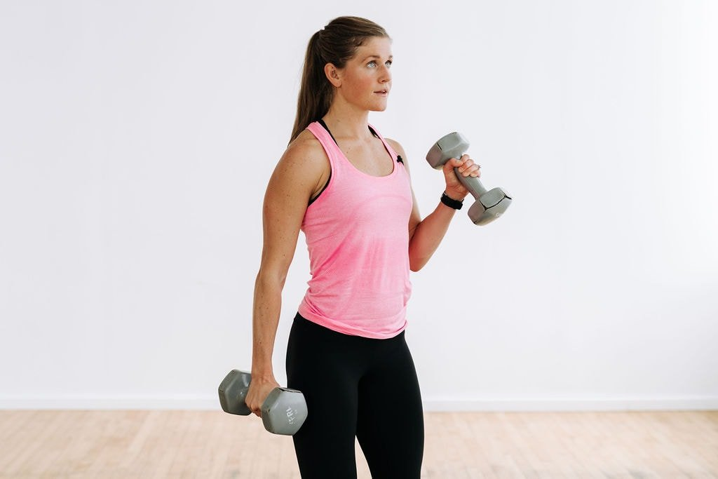 Strength Training at Home   Hammer Curl to target Biceps