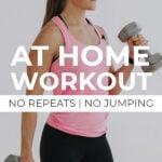 Full Body Strength Workout pin for pinterest
