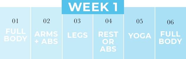 4 week home workout plan | Week 1