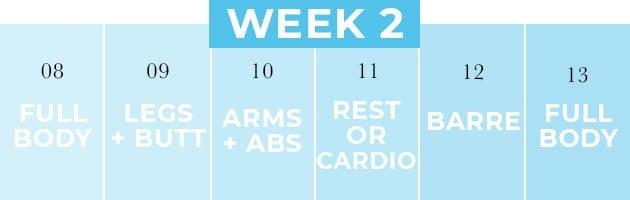 Week 2 of the 4 Week Workout Plan