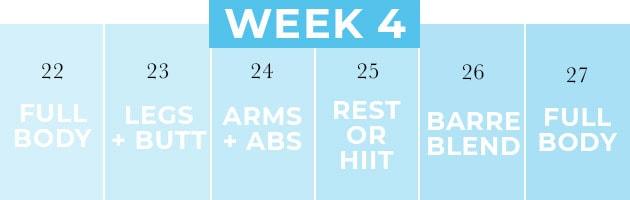 Four Week Workout Plan Week 4