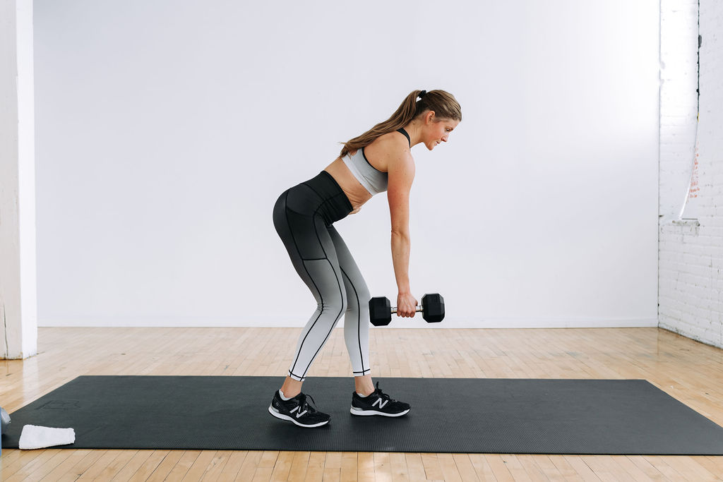 Single arm dumbbell row   legs and back workout