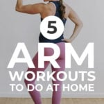 Arm Workouts At Home | Pin for Pinterest