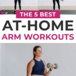 Best Arm Workouts Pin for pinterest