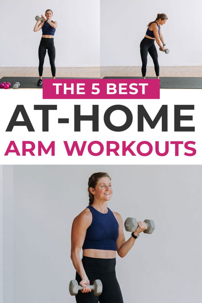 Best Arm Workouts you can do at home with weights