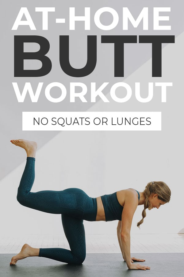 No Squat and No Lunge At Home Booty Workout Pin for Pinterest