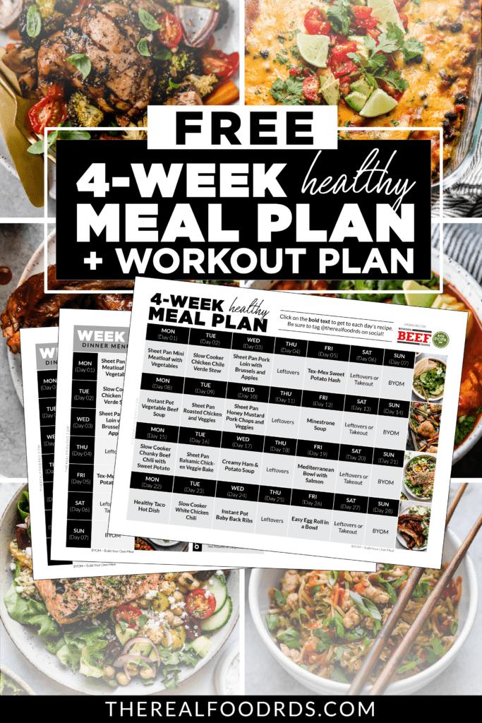 Free 4 Week Meal Plan + Workout Plan