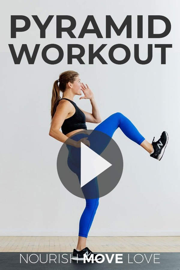 Full Body Resistance Training Pyramid Workout at home