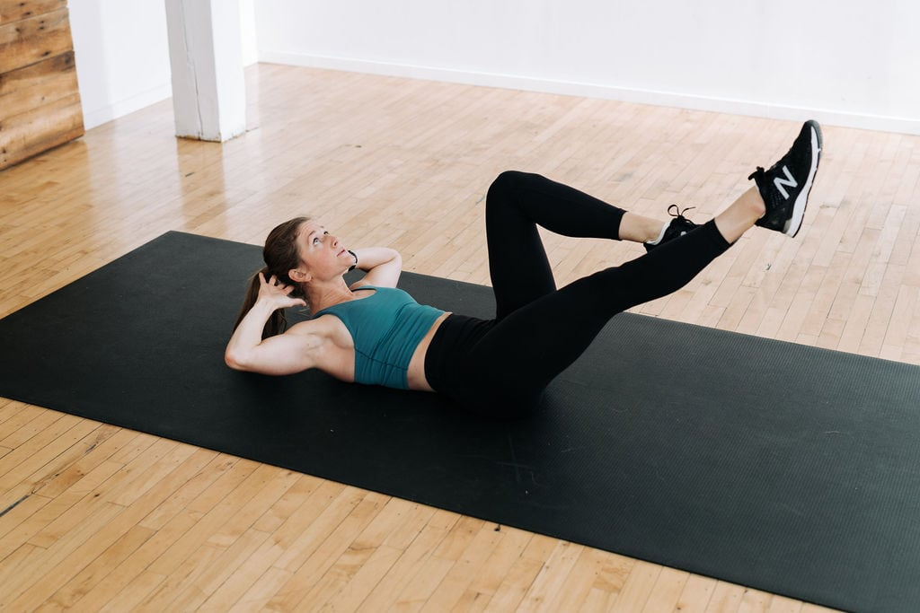 bicycle crunch 5 minute abs