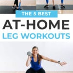 Leg Workouts At Home | pin for pinterest