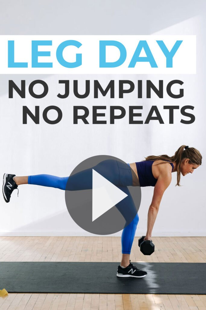 Leg Workout No Jumping Lower Body Strength Training