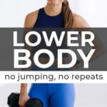 Lower Body Workout   no jumping and no repeats