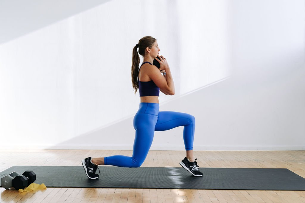 Split Lunge with calf raise best lower body exercises