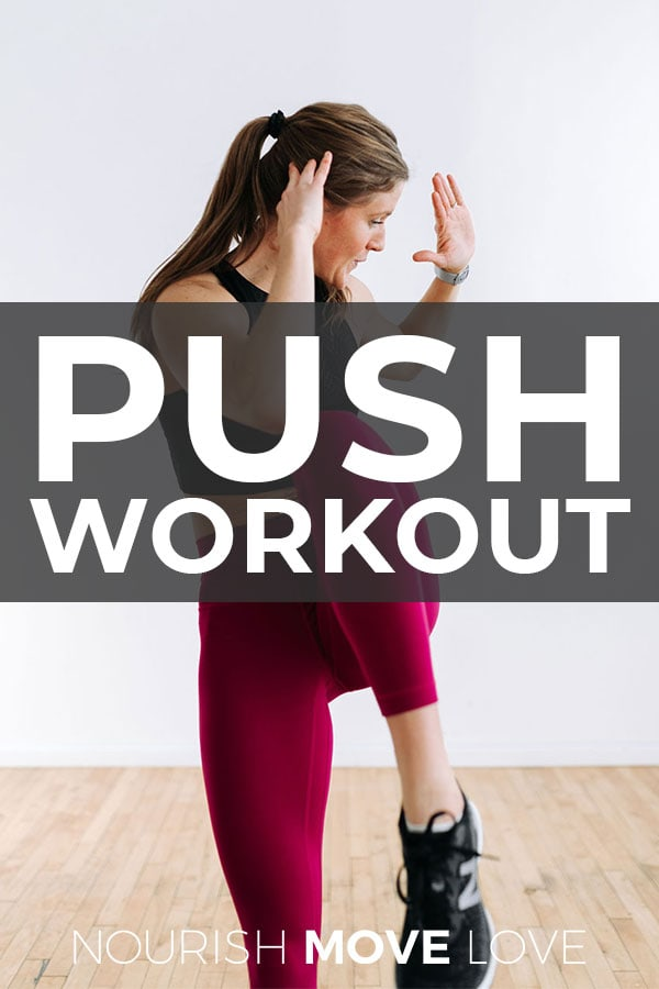 Push Workout for Women Pin for Pinterest