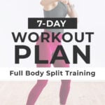 Weekly Workout Plan graphic for pinterest