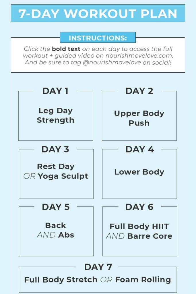 7 Day Split Workout Plan