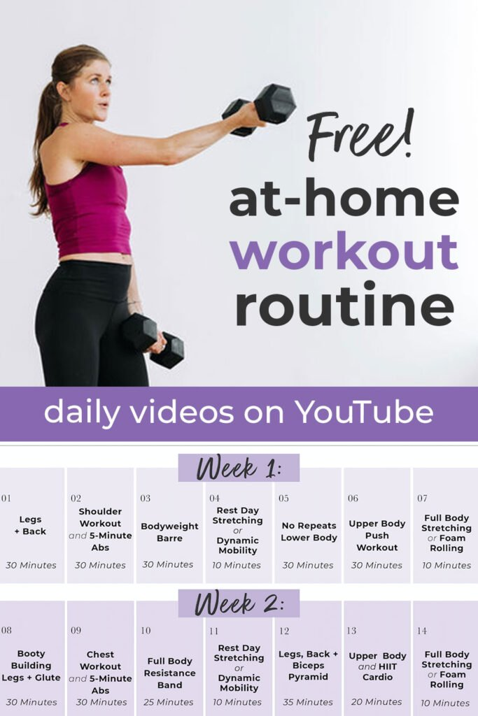 Free At Home Workout Plan with YouTube Videos