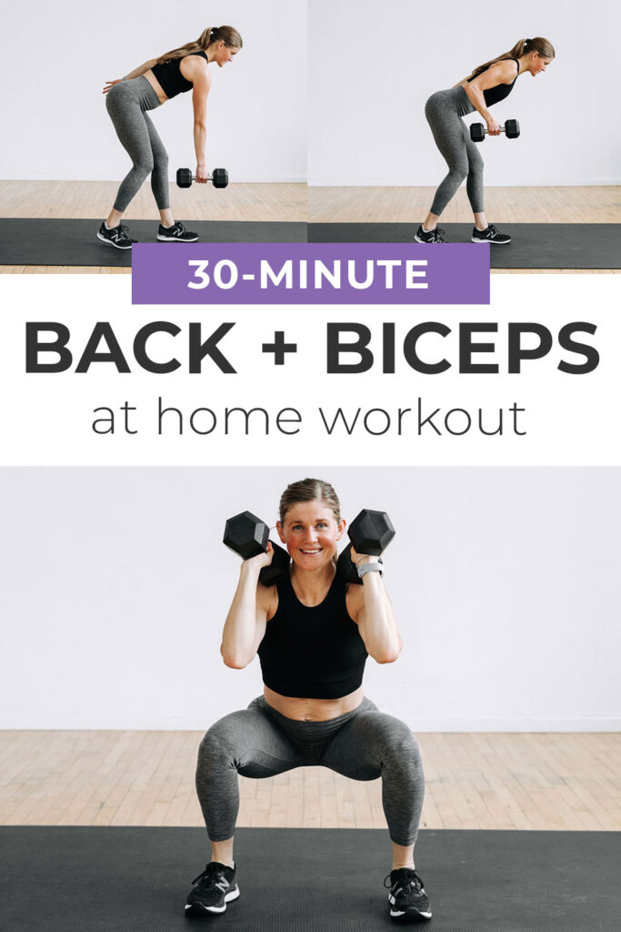 30-Minute Legs Back and Biceps Workout At Home