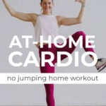 Beginner Cardio Workout at home pin for pinterest
