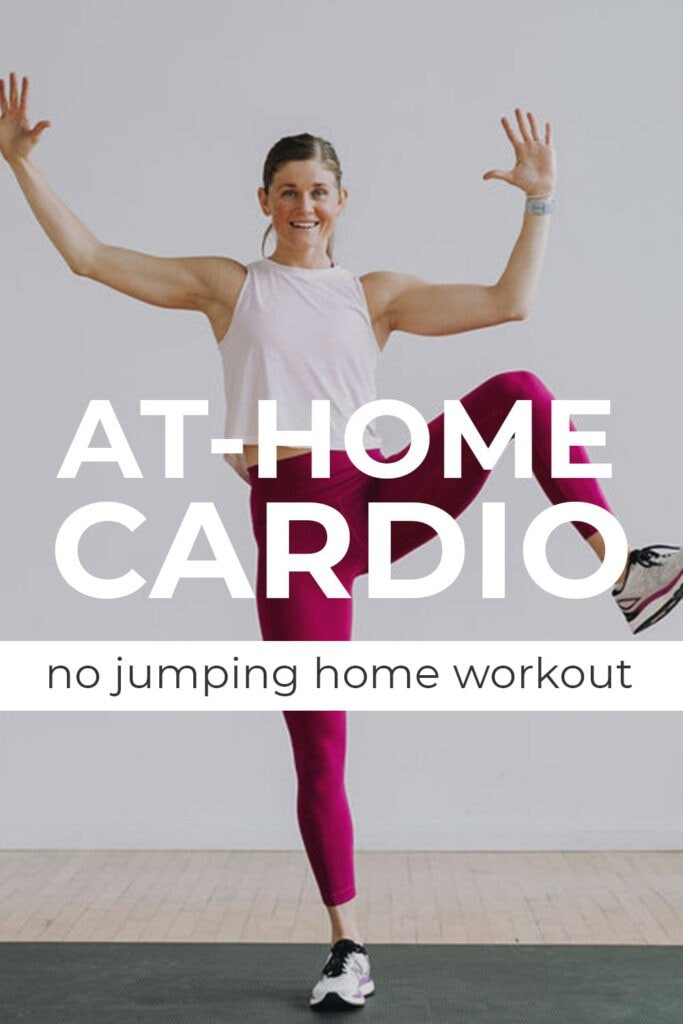 10-Minute Beginner Cardio Workout At Home Pin for Pinterest