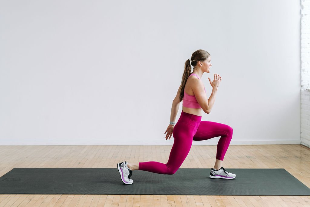 Bodyweight Lunges, pre-workout warm up