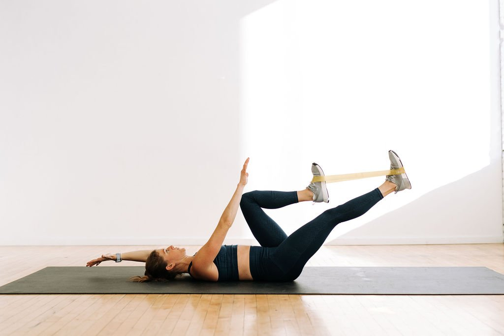 Resistance Band Ab Workout | Dead Bug Exercise with resistance band