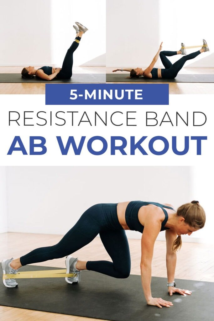 5-Minute Resistance Band Ab Workout pin for Pinterest