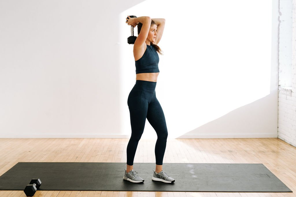 Tricep Workouts for Women | overhead tricep extension