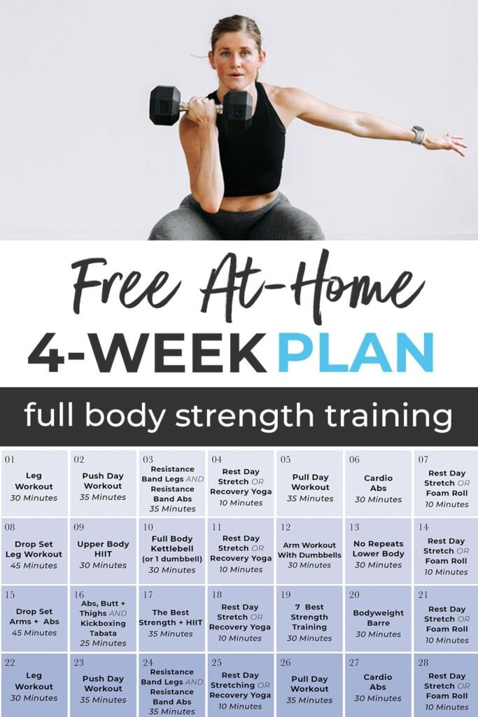 Free At Home 4-Week Workout Calendar