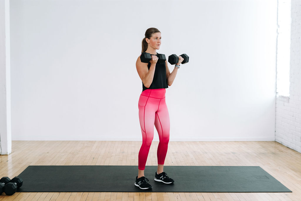 Standard Bicep Curl with Dumbbells