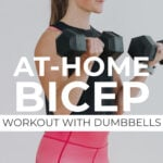 at home bicep workouts pin for pinterest