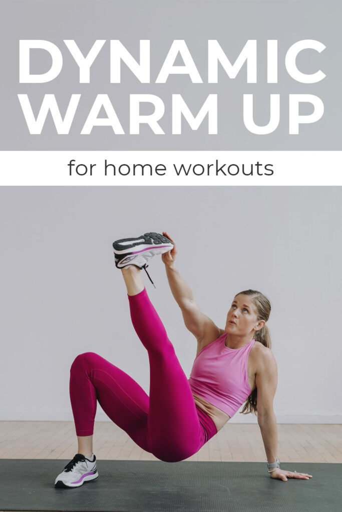 Dynamic Warm Up for home workouts pin for Pinterest