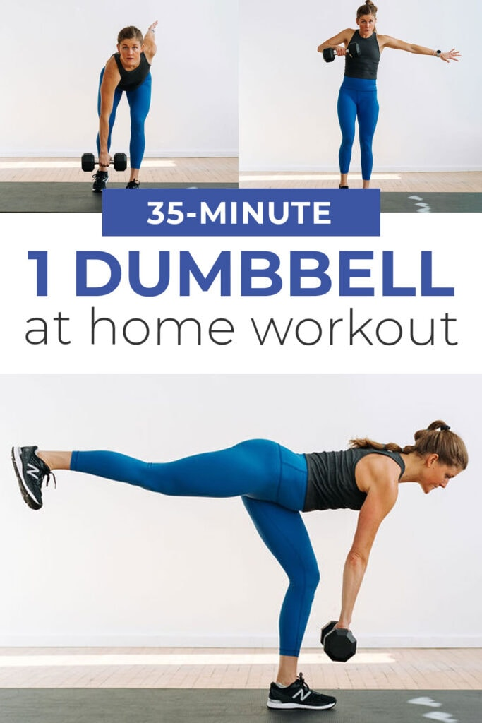 Kettlebell or Single Dumbbell Workout At Home