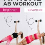 At Home Cardio Abs Workout beginner abs to advanced abs