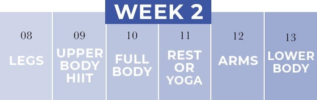 full body fitness routine for women | week 2