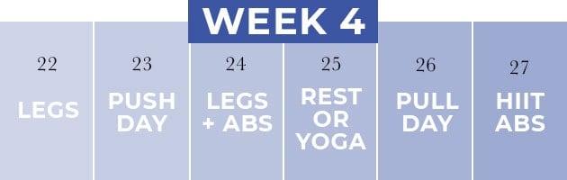weight los plan | week 4