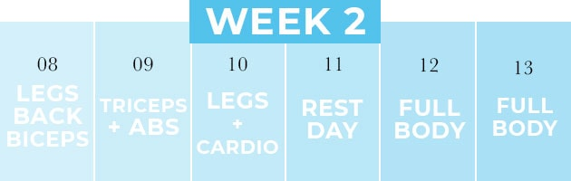two week workout challenge | week two