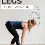 LEG WORKOUTS at home | pin for fpinterest