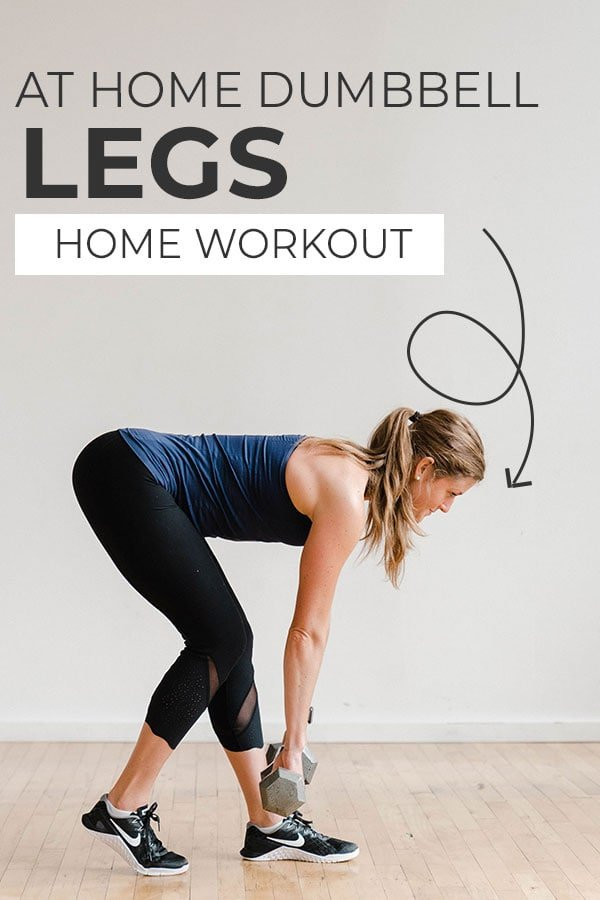 the best LEG WORKOUTS at home | pin for pinterest