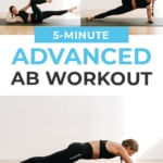 Advanced Ab Workout | pin for pinterest