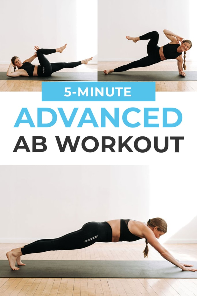 5 Minute Advanced Ab Workout | pin for pinterest