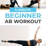 Beginner Ab Workout pin for pinterest