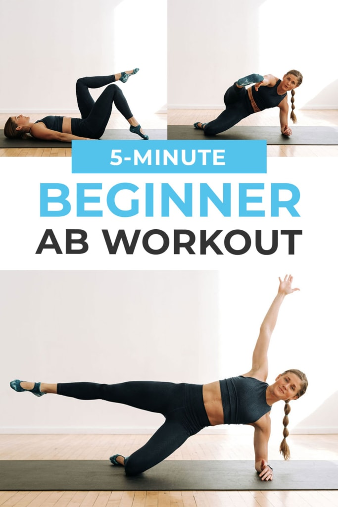 5-Minute Beginner Ab Workout pin for pinterest
