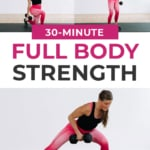 Full Body Workout with Dumbbells At Home pin for pinterest