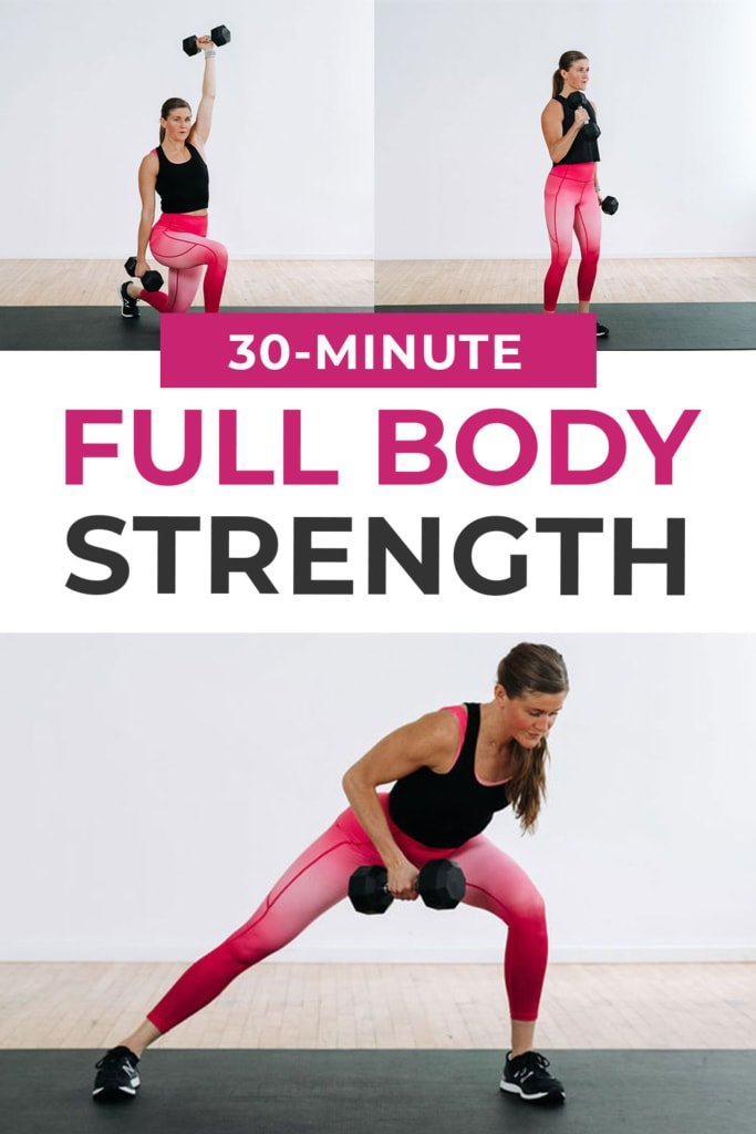Full Body Workout At Home pin for pinterest