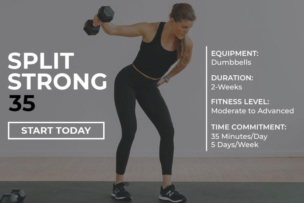 Free Workout Program for Women | SplitStrong 35 program description graphicFree Workout Program for Women | SplitStrong 35 program description graphic