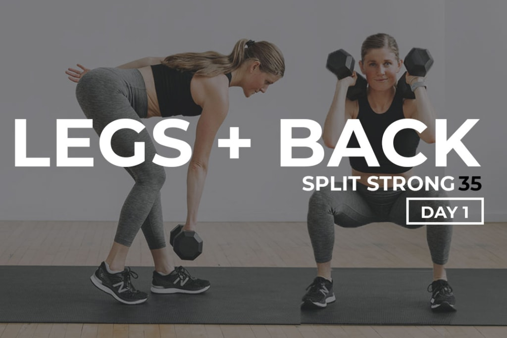 Legs and Back workout at home with dumbbells