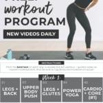 Free 2-Week Home Workout Plan for Women
