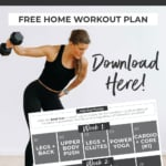 Home Workout Program pinterest graphic