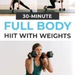 Full Body Dumbbell Workout | pin for pinterest